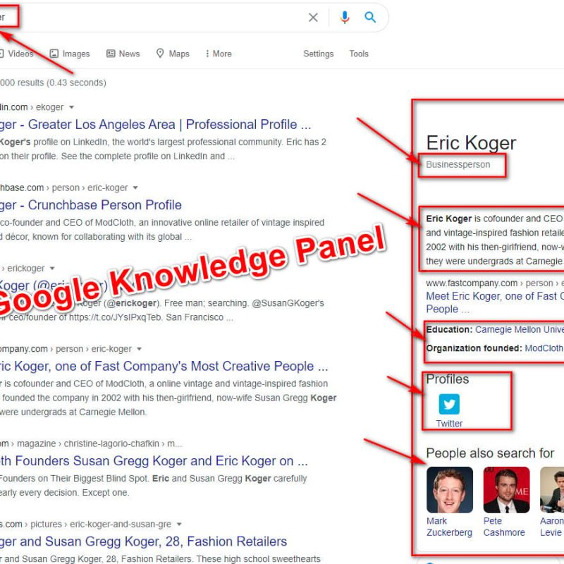 google knowledge box
